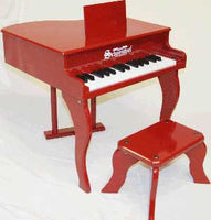 Schoenhut 30 Key Fancy Baby Grand Toy Piano - Red - 3005R