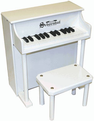 Schoenhut 6625W 25-Key Traditional Spinet Toy Piano - White