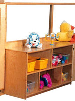 Strictly for Kids Deluxe Divider with 24''h Storage and Divided Shelves, 48''w
