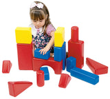 School Specialty Plastic Hollow Blocks, 17 Pieces