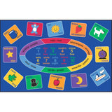 "Learning Carpets Smarty Spanish - Bilingual Rug - 5'10"" x 8'5"" - CPR612 - The Creativity Institute"