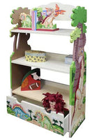 Teamson Kids Dinosaur Kingdom 3-Level Bookcase - TD-0069A