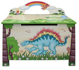 Teamson Kids TD-0074A Dinosaur Kingdom Toy Chest