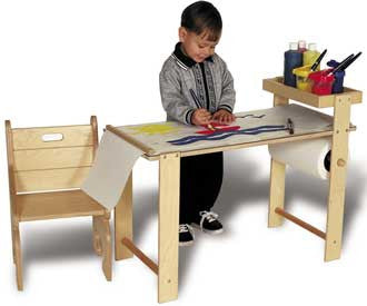 TAG Toys Wooden Hobby & Art Table and Chair Set