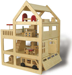 TAG Toys P6 Wooden Family Doll House Dollhouse - The Creativity Institute