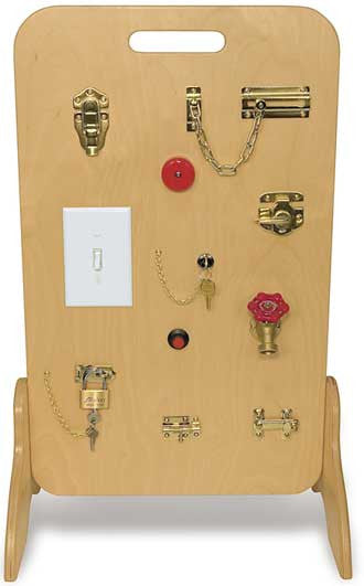 TAG Toys Wooden Locks & Latches Activity Board - RH-10