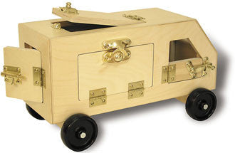TAG Toys SM12 Wooden Lock-up Van - The Creativity Institute