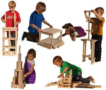"Timberworks Toys ""Beautiful Building Blocks"" Construction Set"