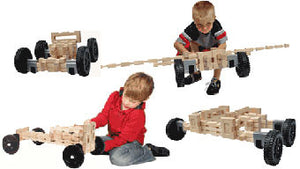 Timberworks Toys Wheeled Vehicle Set Wooden Construction Set