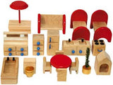 TAG Toys P6A 18-Piece Wooden Dollhouse Furniture Set