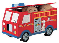 Teamson Kids W-4007A Fire Engine Toy Chest - The Creativity Institute