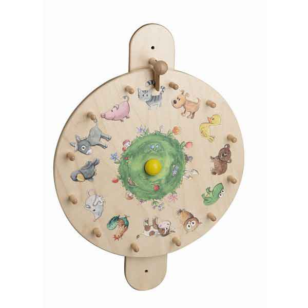 HABA Turntable Animals Wall Activity Panel