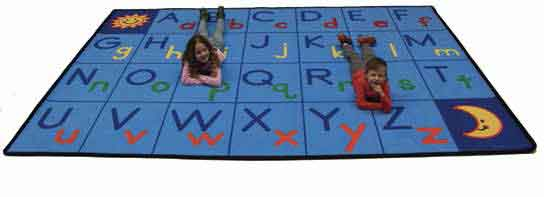 "Learning Carpets Upper & Lower ABCs Rug 11' 9"" x 8' 5"" - CPR981 - The Creativity Institute"