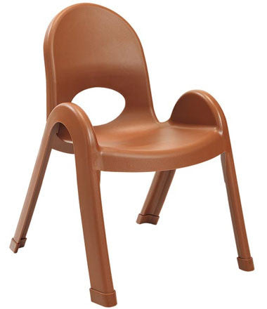 "Angeles AB7711CB4 Value Stack 11"" Chair 4 Pack - Cocoa"