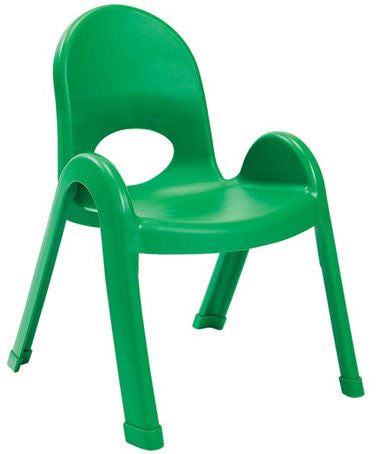 "Angeles AB7711PG Value Stack 11"" Chair - Green"