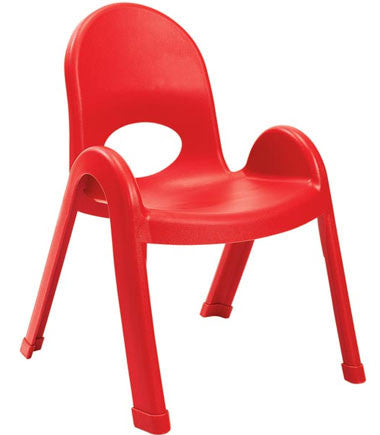 "Angeles AB7711PR Value Stack 11"" Chair - Red"