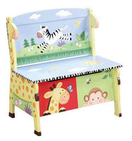 Teamson Kids W-8267A2 Sunny Safari Storage Bench