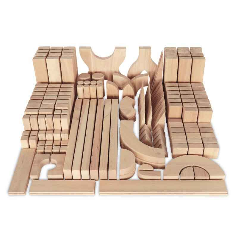 Whitney Brothers WB0372 Hardwood Quarter School Block Set: 170 Blocks - The Creativity Institute