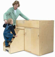 Whitney Brothers WB0648 Step Up Toddler Changing Cabinet