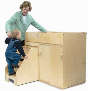 Whitney Brothers WB0648 Step Up Toddler Changing Cabinet - The Creativity Institute