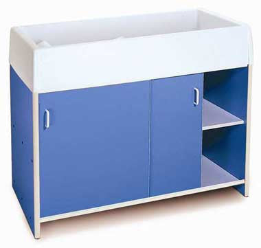 Whitney Brothers WB0721 EZ Clean Infant Changing Cabinet Blue - The Creativity Institute