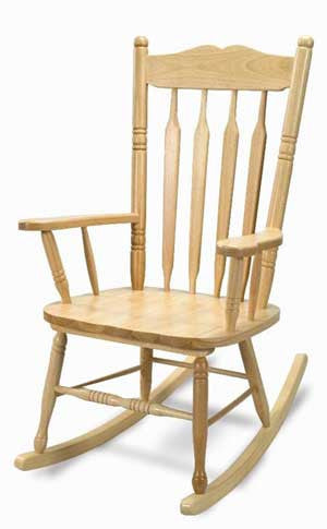 Whitney Brothers Hardwood Adult Rocking Chair - WB5536 - The Creativity Institute