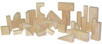 Wood Designs Wooden Toddler Blocks - 13 Shapes, 36 Pieces