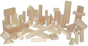 Wood Designs Basic Blocks - Fifteen Shapes, 56 Pieces - 60200
