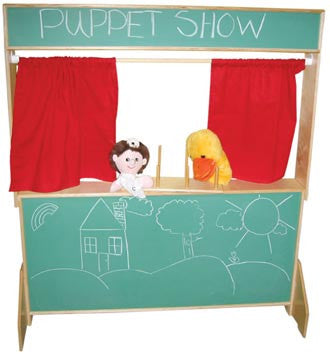 Wood Designs Deluxe Play Theater with Chalkboard Panels - 21650