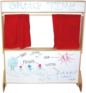 Wood Designs Deluxe Play Theater with Marker Board Panels - 21651