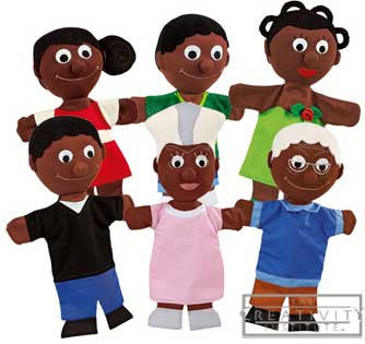 Wesco African Family Puppet 33410