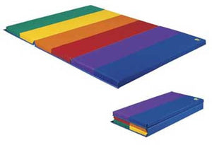 "Wesco Folding Rainbow Gym Mat - 6' x 4 ' x 2"" - 5126"