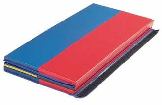 "Wesco Folding Rainbow Gym Mat - 6' x 4 ' x 1.5"" - 769"