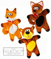 Wesco Woods Puppet Set - Wolf, Fox and Bear Puppets