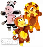 Wesco Zoo Safari Puppet Set 2 - Zebra, Lion and Monkey Puppets