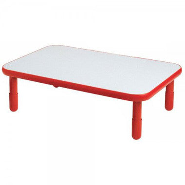 "Angeles 30"" x 48"" BaseLine Rectangle Table 12"" Legs - Candy Apple Red"