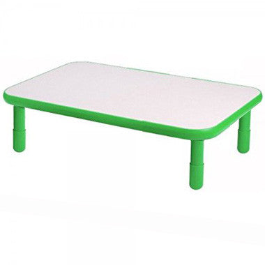 "Angeles 30"" x 72"" BaseLine Rectangle Table 12"" Legs - Shamrock Green"