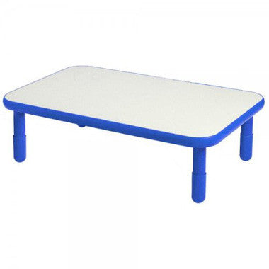 "Angeles 30"" x 48"" BaseLine Rectangle Table 12"" Legs - Royal Blue - The Creativity Institute"