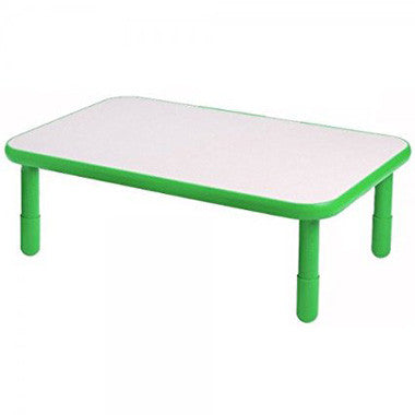 "Angeles 30"" x 48"" BaseLine Rectangle Table 14"" Legs - Shamrock Green"