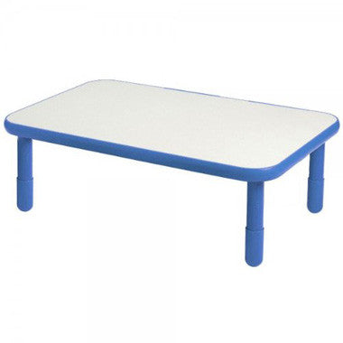 "Angeles 30"" x 72"" BaseLine Rectangle Table 16"" Legs - Royal Blue"