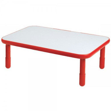 "Angeles 30"" x 48"" BaseLine Rectangle Table 16"" Legs - Candy Apple Red"