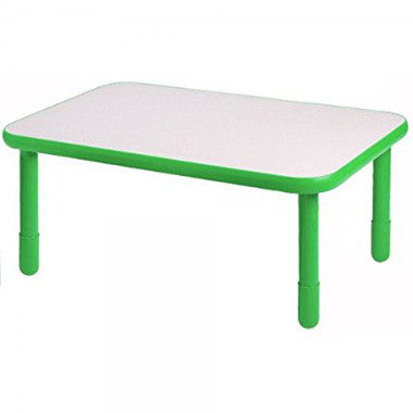 "Angeles 30"" x 72"" BaseLine Rectangle Table 18"" Legs - Shamrock Green - The Creativity Institute"