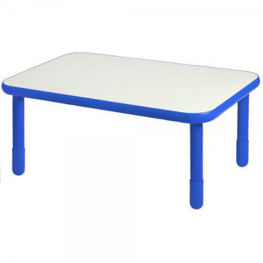 "Angeles 30"" x 48"" BaseLine Rectangle Table 18"" Legs - Royal Blue"