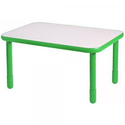 "Angeles 30"" x 60"" BaseLine Rectangle Table 22"" Legs - Shamrock Green - The Creativity Institute"