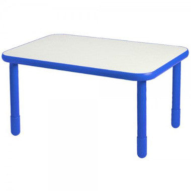 "Angeles 30"" x 48"" BaseLine Rectangle Table 22"" Legs - Royal Blue"