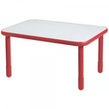 "Angeles 30"" x 72"" BaseLine Rectangle Table 22"" Legs - Candy Apple Red"