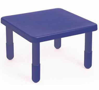 "Angeles 28"" X 28"" Value Table 16"" Legs - Blue"