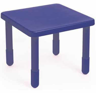 "Angeles 28"" X 28"" Value Table 20"" Legs - Blue"