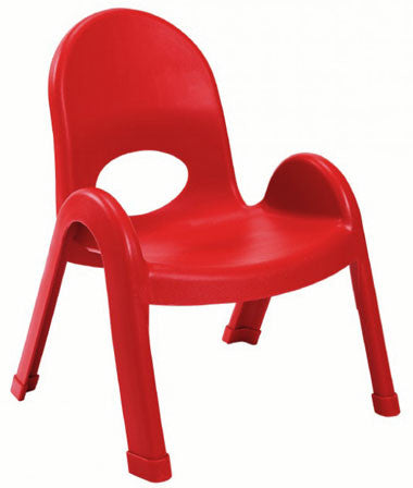 "Angeles AB7709PR4 Value Stack 9"" Chair 4 Pack - Red - The Creativity Institute"