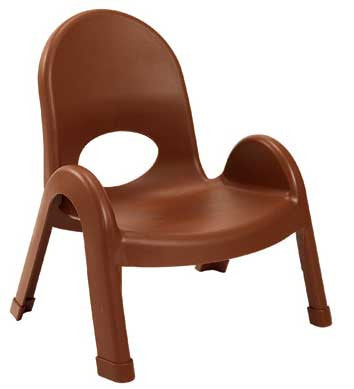 "Angeles AB7707CB4 Value Stack 7"" Chair 4 Pack - Cocoa"